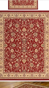 8 x 10 red new nice persian design rug