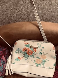 white and multicolored floral leather crossbody bag San Jose, 95111