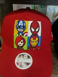red and yellow fitted cap Costa Mesa, 92626