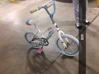 toddler's white and blue bicycle