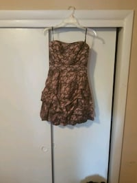 women's pink and black floral  strapless dres Woodbridge, 22191