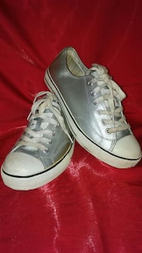 Silver Canvas Shoes by exhileration - size 8 Fargo, 58103
