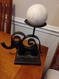 Elephant. Candle holder metal
