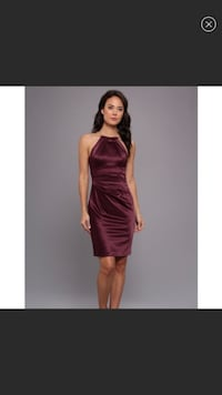Eliza J satin halter choker dress