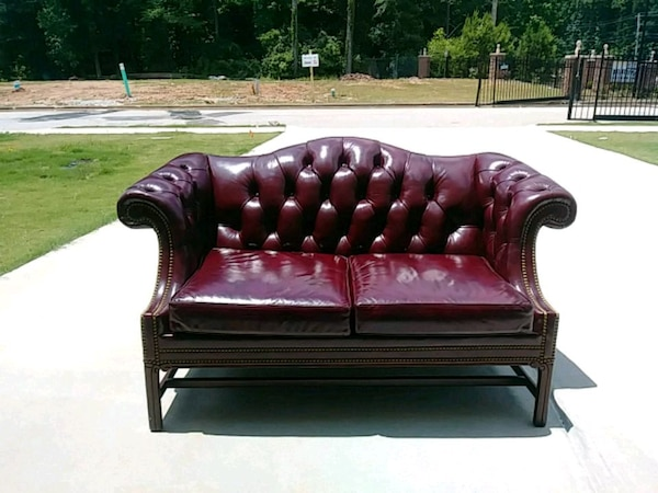 Remarkable Antique Leather Loveseat Negotiable Bralicious Painted Fabric Chair Ideas Braliciousco
