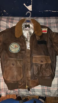 Vintage Leather bomber jacket  Toronto, M6P 4G3