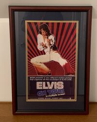 Framed/Matted ELVIS On TOUR 1972 Motion Picture Poster