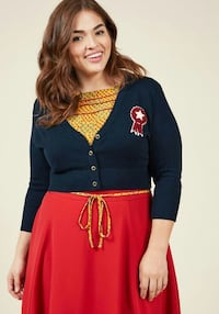 Brand new cropped navy blue cardigan