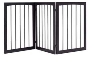 New-Folding Solid Wooden 3 Panel Free Standing Pet Fence