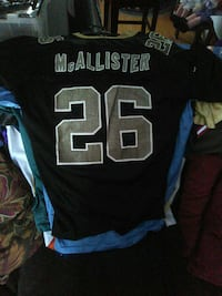 black, grey, and blue McAllister 26 jersey Rochester, 03867