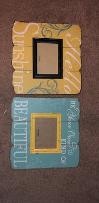 two white and yellow photo frames Conway, 29527