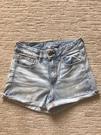 Ladies American Eagle Hi Rise Shortie Shorts Size 2 London, N6G