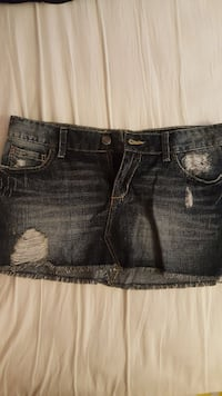 women's distressed denim mini skirt 28 km