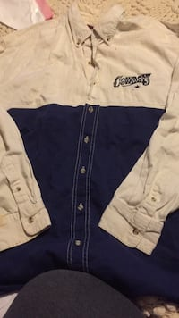 white and blue Dallas Cowboys jacket