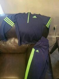 black and green Adidas sweatsuit med 10/12 boys Louisville