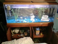brown framed fish tank with custom made cabinet  Woodbridge, 22193