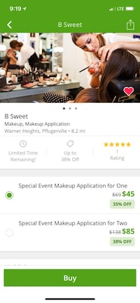 Two makeup applications for special event Pflugerville, 78660