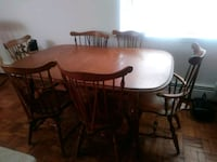 An S. Bent and Bros. Colonial dining table set  New Rochelle, 10805