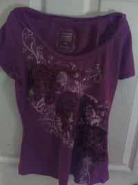 women's purple and white scoop-neck shirt Prince George, V2M 3P6