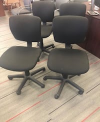 4 Black Rolling Draft Office Chairs Irving, 75062