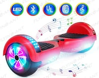 Brand New Hover board With Bluetooth and LED Lights  2262 mi