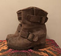 Size 6.5- Distressed Suede Booties-Reduced Price Montréal, H3V 1B4