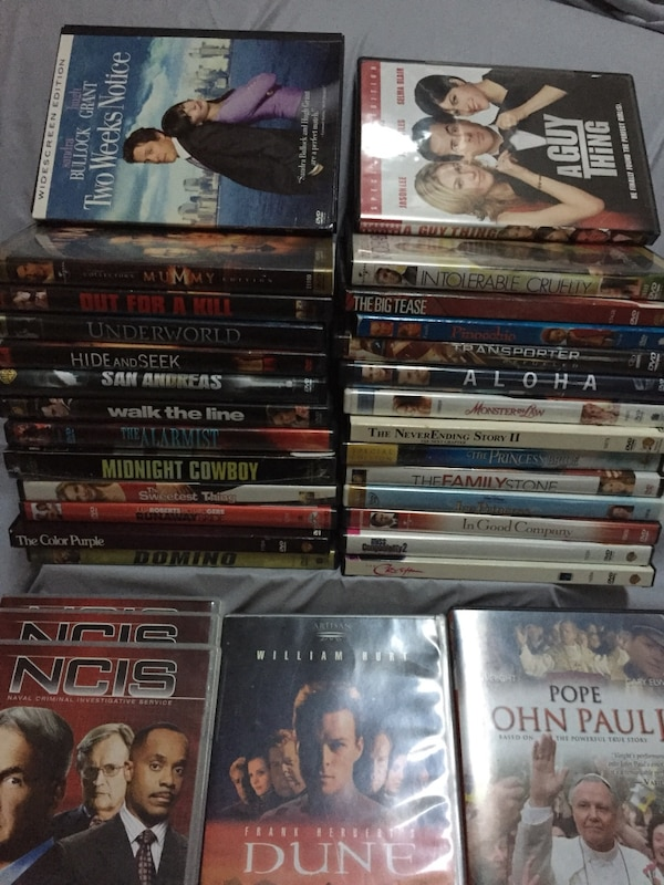 DVDs 30 pcs, plush movies . No scratch   In m