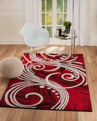 Brand new modern style red carpet Area Rug size 8x11 Burke, 22015