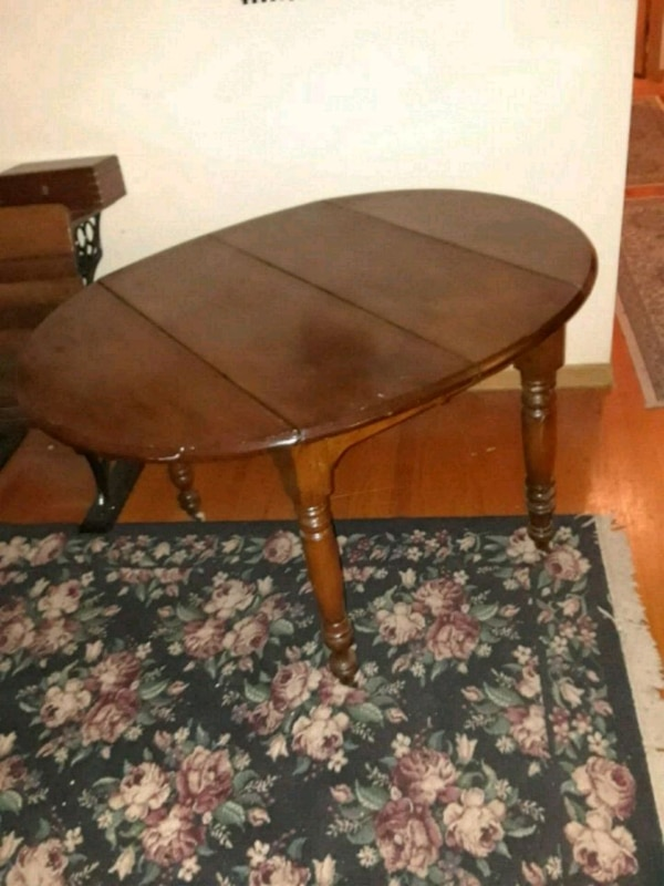 Used Antique Brown Wooden Walnut Table For Sale In Kansas City Letgo