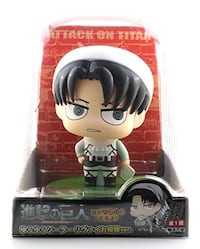 New Attack on Titans Solar Power Wobbling Figure Levi Cleaner ver.
