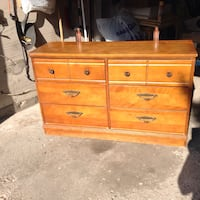 brown wooden 6-drawer lowboy dresser Toronto, M2J