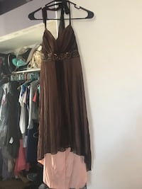 Brown and Peach Dress Size Small Fontana, 92337