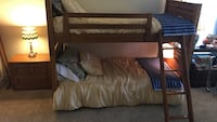 Oak Stanley bunk beds with dresser and Night Stand