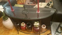 Glass top console table with side glass table Toronto, M4B 2E2