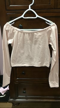 FOREVER21 light pink off the shoulder top