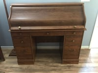 Roll Top Wooden Desk Virginia Beach