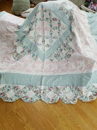 teal and white floral comforter Fairland, 46126