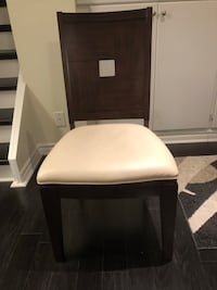 Dining chairs 6 -or 8 if needed   45.00 each. Solid mahogany with leather seat