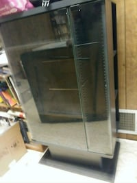 black and gray wooden display cabinet Los Angeles, 90043