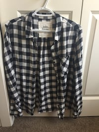 Black and white plaid  shirt Calgary