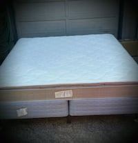 King mattress with box spring and metal frame Oregon City, 97045