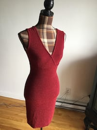 Brand new  red v neck sexy dress in small/medium