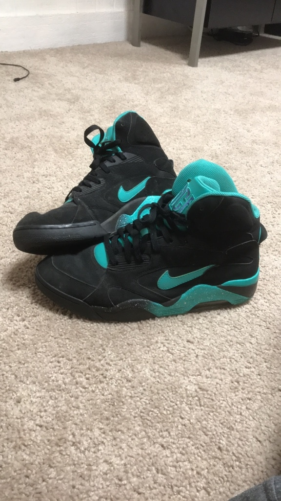 Photo Nike Air Force 180 Mid Atomic Teal Mens Size 13 Shoe