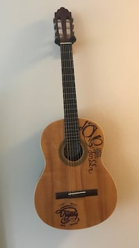 brown and black classical guitar Pacifica, 94044