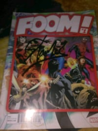 Foom #1 marvel comic signed by Stan Lee