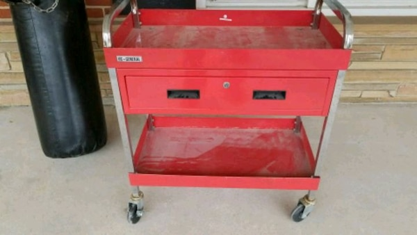 US General Tool Stand On Wheels