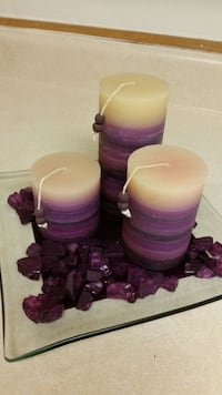 2 Candle sets and candle holders decor.