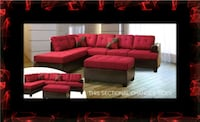 Red sectional with ottoman Alexandria, 22305