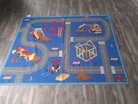Construction zone play rug