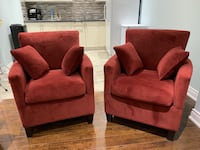 Gorgeous Red Accent End Chairs TORONTO